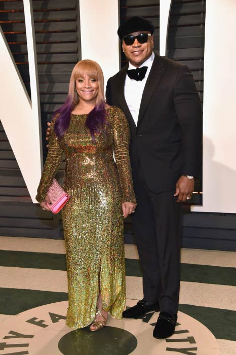 LL Cool J and Simone Smith at the 2017 Vanity Fair Oscar Party