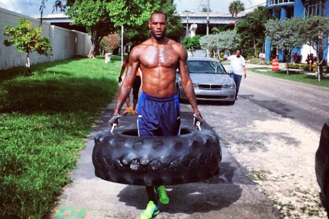 LeBron James outdoor workout