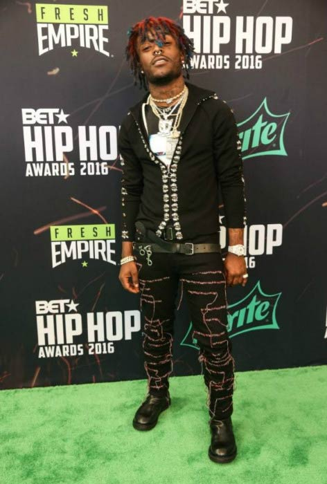 Lil Uzi Vert at the BET Hip Hop Awards in September 2016