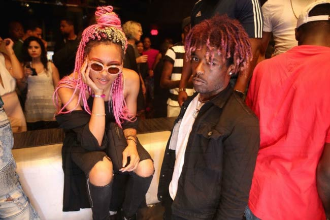 Lil Uzi Vert and Brittany Byrd at a public event in 2016