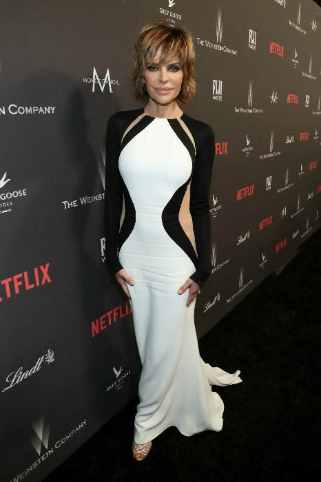 Lisa Rinna at The Weinstein Company and Netflix Golden Globes Party in January 2017