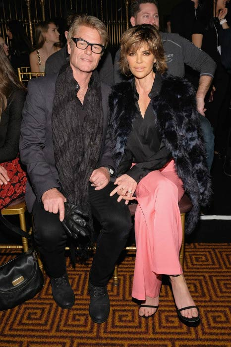 Lisa Rinna and Harry Hamlin at the Sherri Hill Runway Show during New York Fashion Week in February 2017