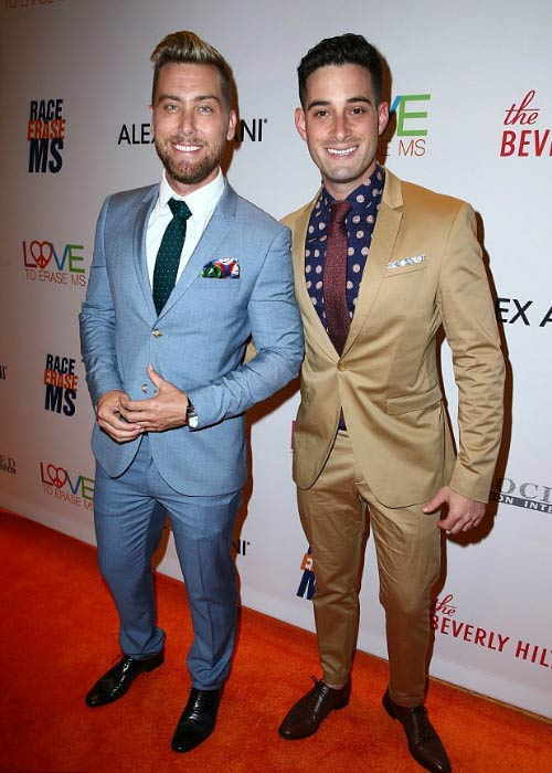 Michael Turchin and Lance Bass at the 24th Annual Race To Erase MS Gala in May 2017