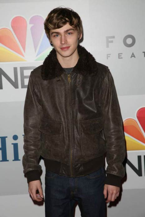 Miles Heizer at the NBC Universal Golden Globe Awards Party in January 2015