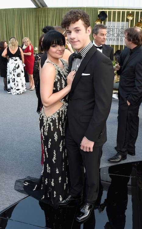Nolan Gould with Modern Family co-star Ariel Winter at the 2016 Critics' Choice Awards