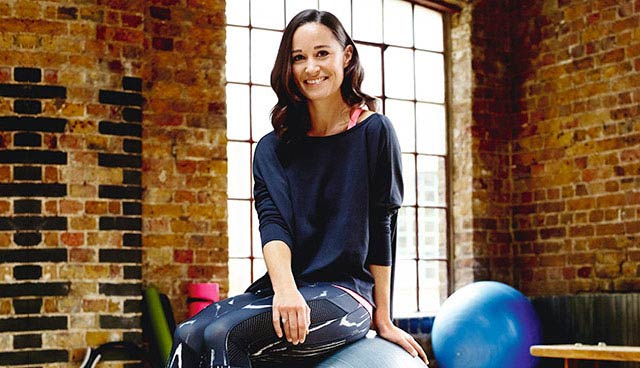 Pippa Middleton in the fitness studio