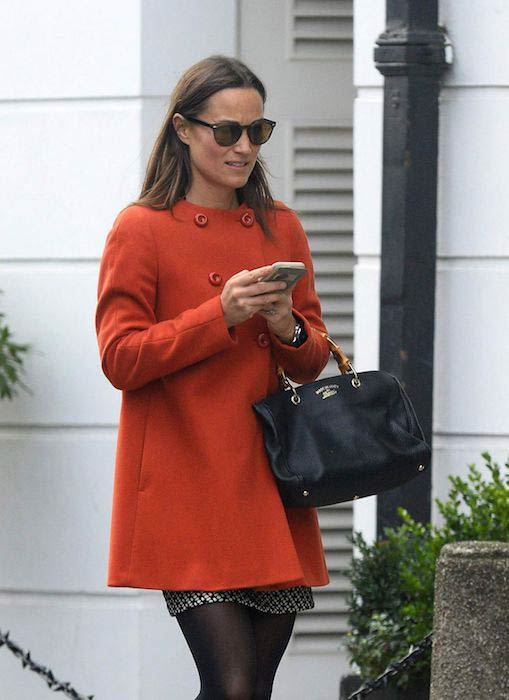Pippa Middleton out and about in London on November 15, 2016