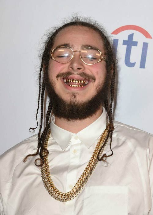 Post Malone at the Universal Music Group's GRAMMY after party in February 2016