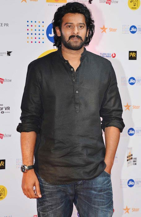 Prabhas during Baahubali 2 first look launch in 2017