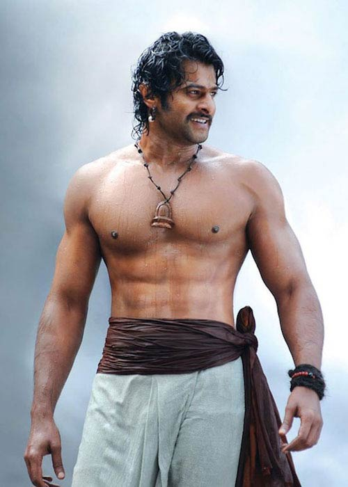 Prabhas shirtless body Baahubali 1 2015