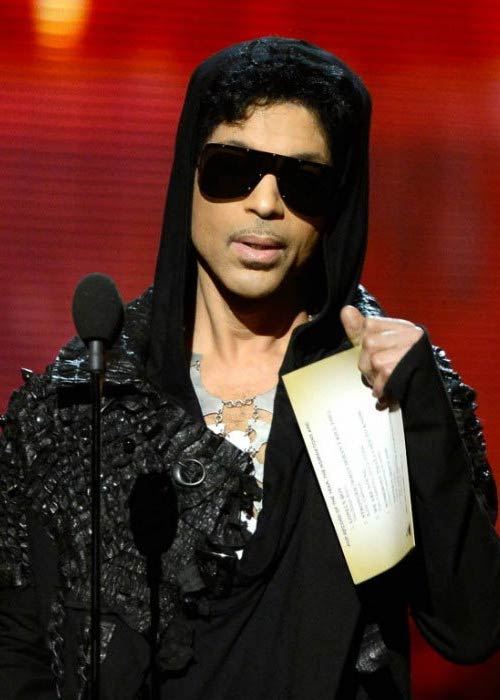 Prince at the 55th Annual GRAMMY Awards in February 2013