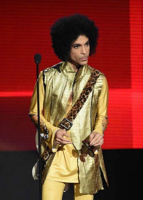 Prince at the American Music Awards in November 2015