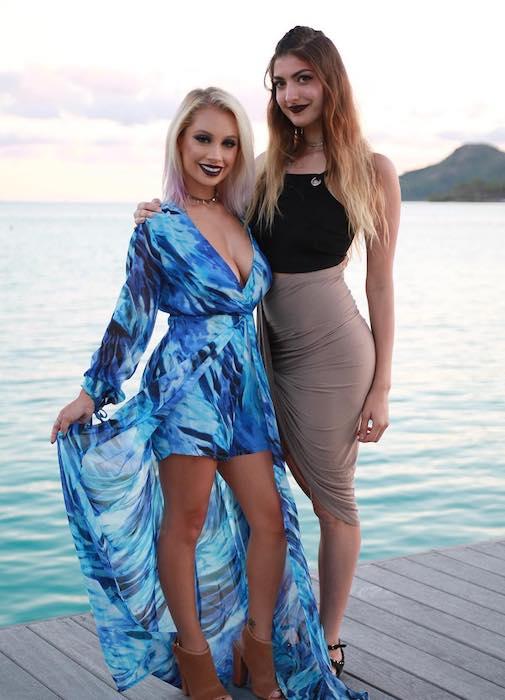 Rachel Levin with beauty vlogger, Nicol Concilio in Bora Bora in October 2016