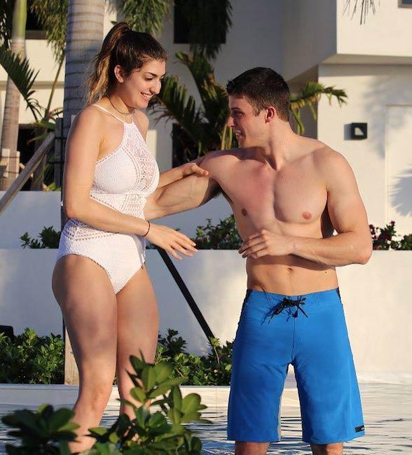 Rachel Levin with boyfriend Tyler Regan at Triton Luxury Villa, Turks and Caicos Islands in March 2017