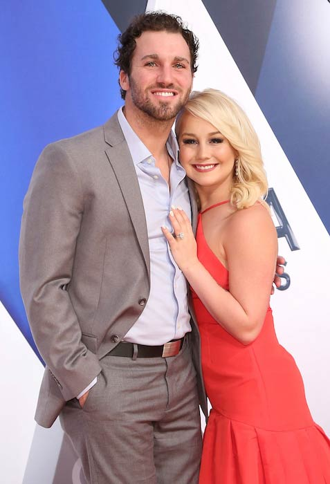 RaeLynn and Josh Davis at 49th CMA Awards in November 2015