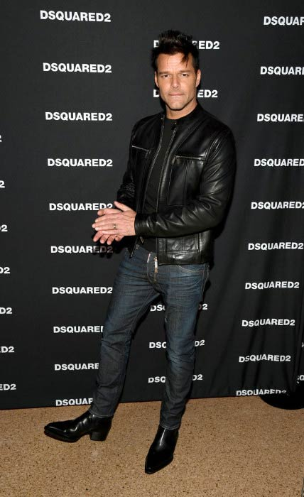 Ricky Martin at the grand opening party for Dsquared2 in April 2017