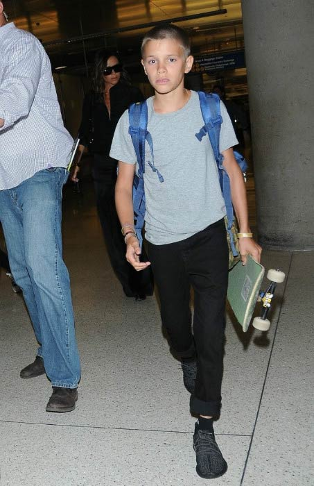 Romeo Beckham at the LAX airport in Los Angeles in August 2016