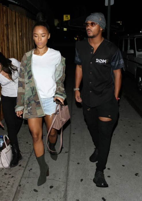 Romeo Miller and Serayah outside Los Angeles hotspot in September 2016