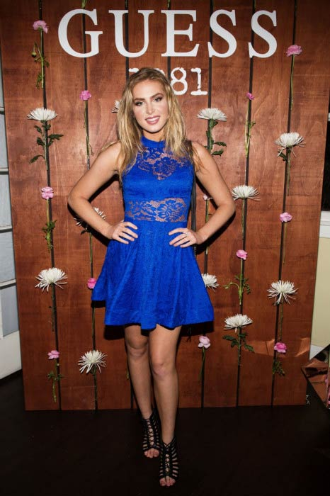 Saxon Sharbino at the Guess 1981 fragrance launch in March 2017