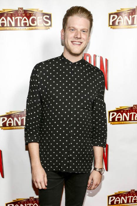 Scott Hoying at the opening night of PIPPIN in October 2014