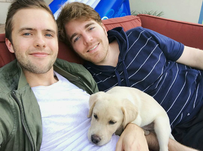 Shane Dawson and Ryland Adams in a picture shared on Instagram in October 2016