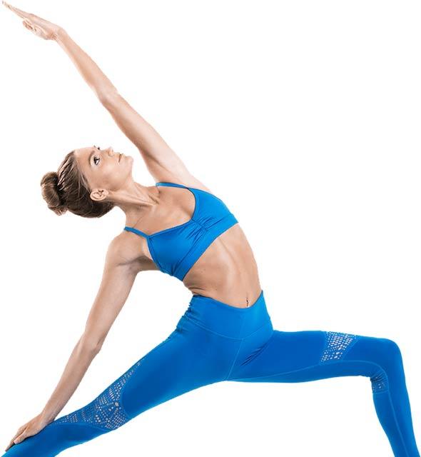 Sjana Elise doing yoga