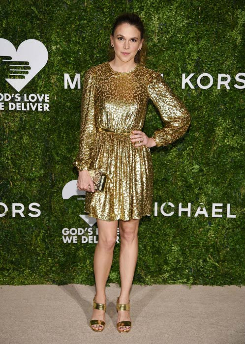 Sutton Foster at the God's Love We Deliver Golden Heart Awards in October 2016