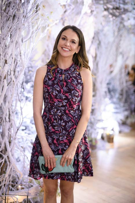 Sutton Foster at a Private Winter Wonderland Event in January 2017