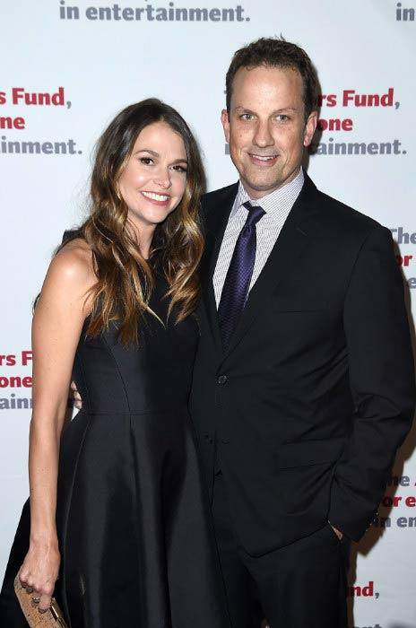 Sutton Foster and Ted Griffin at The Actors Fund Gala in April 2016