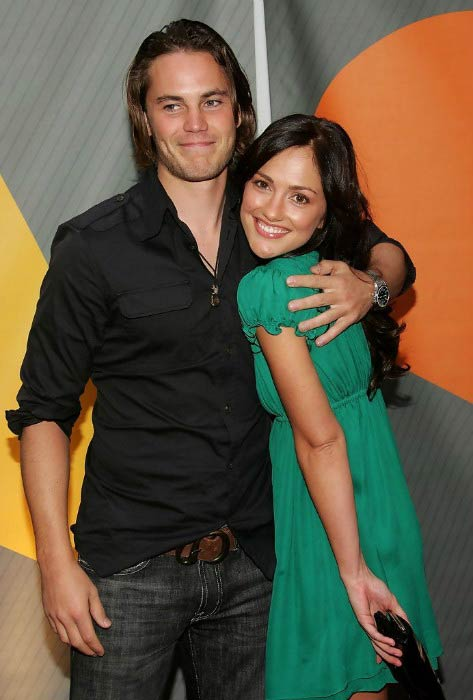 Taylor Kitsch and girlfriend Minka Kelly at the NBC Upfronts event in May 2007