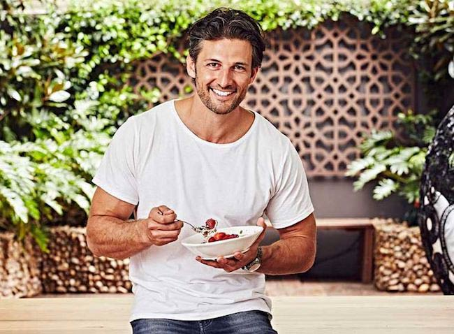 Tim Robards eating a bowl of zoats as seen on Jan 23, 2017