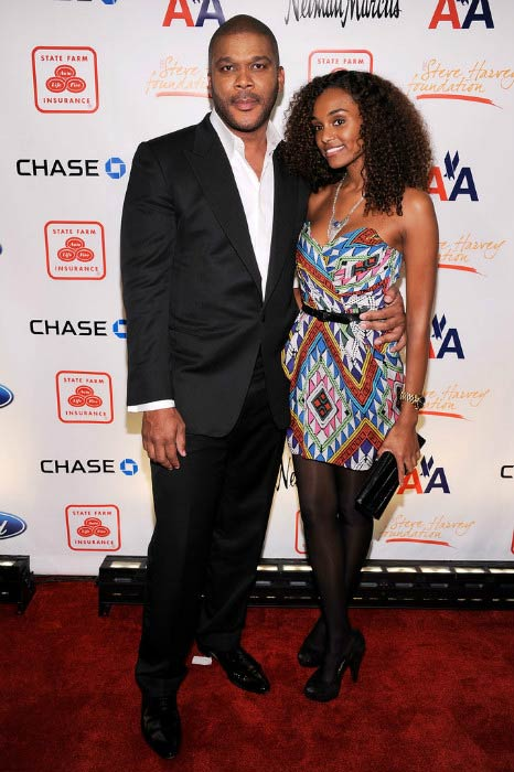 Tyler Perry and Gelila Bekele at the 2nd annual Steve Harvey Foundation Gala in April 2011