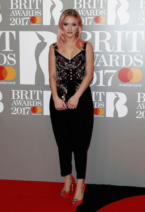 Zara Larsson at The BRIT Awards 2017