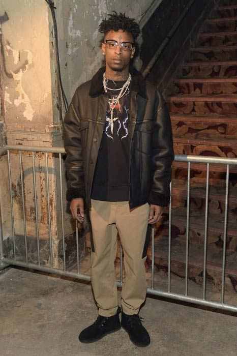 21 Savage at the Alexander Wang February 2017 Fashion Show during New York Fashion Week