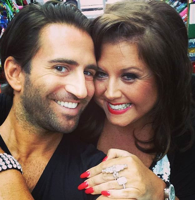 Abby Miller and Michael Padula in a social media post shared in January 2014