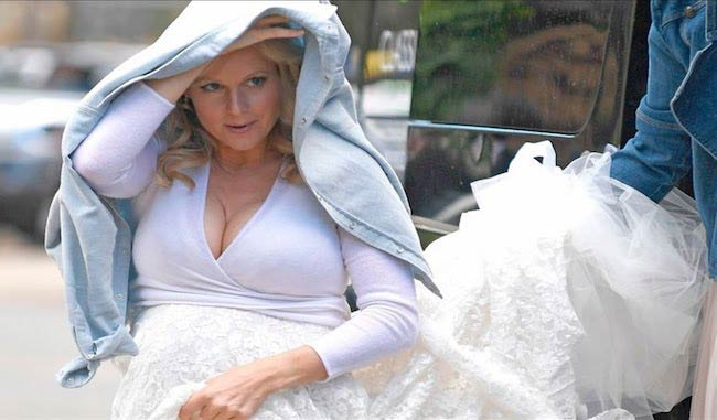 Abi Titmuss in her wedding dress