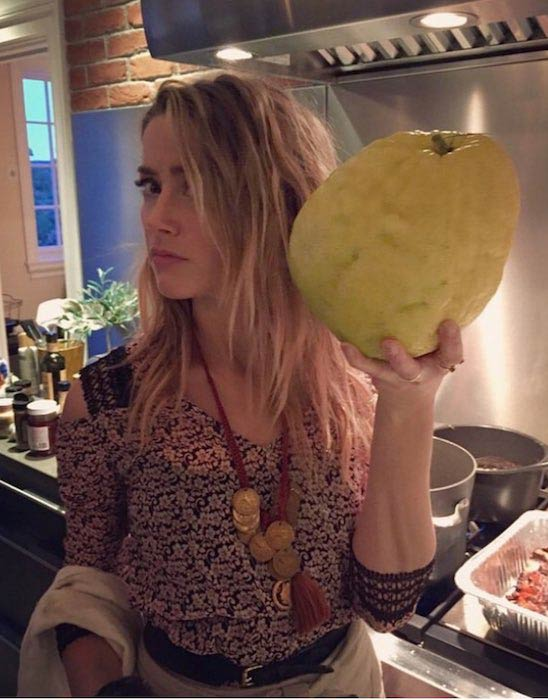 Amber Heard giant lemon