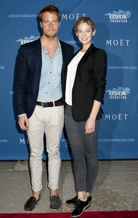 Analeigh Tipton and Jake McDorman at the USTA foundation event before US Open in August 2014