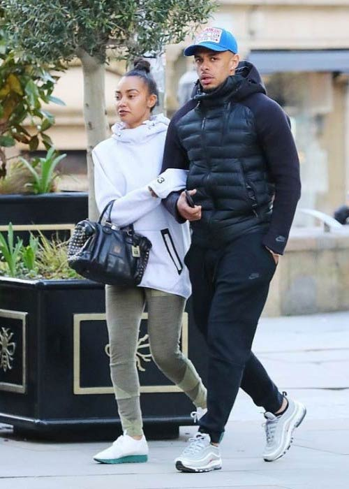 Andre Gray and Leigh-Anne Pinnock out in Manchester in April 2017