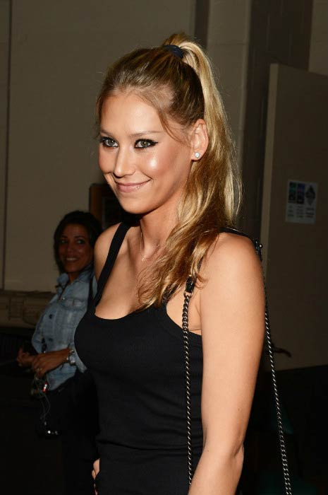 Anna Kournikova at the Y100's Jingle Ball event in December 2012 in Miami