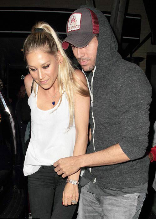 Anna Kournikova and Enrique Iglesias at The Palm restaurant in Beverly Hills in July 2016