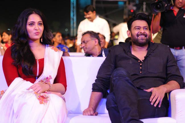 Anushka Shetty and Prabhas at the Baahubali: The Conclusion screening event in 2017