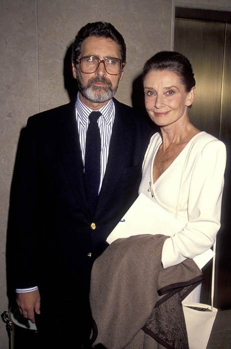 Audrey Hepburn and Robert Wolders at the International Women's Forum in Beverly Hills in October 1990