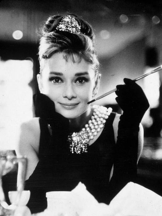 Audrey Hepburn in a still from her iconic movie, Breakfast at Tiffany's
