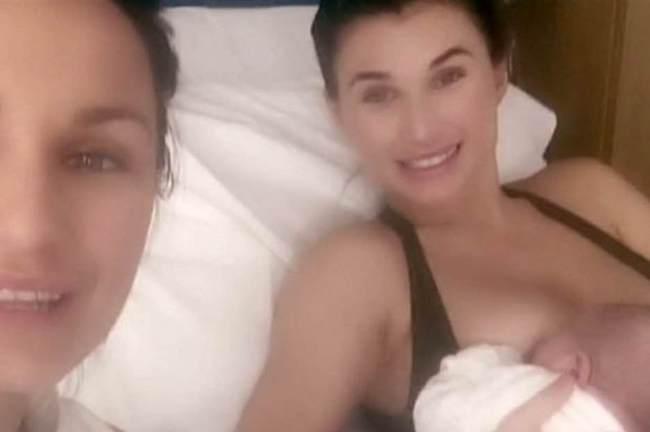 Billie Faiers breastfeeding