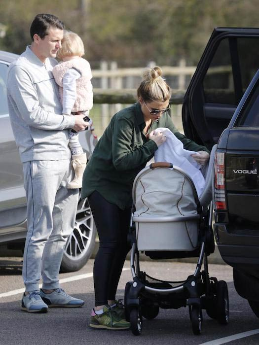 Billie Faiers with Greg and kids
