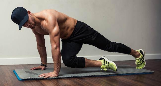 Bradley Simmonds doing floor exercises