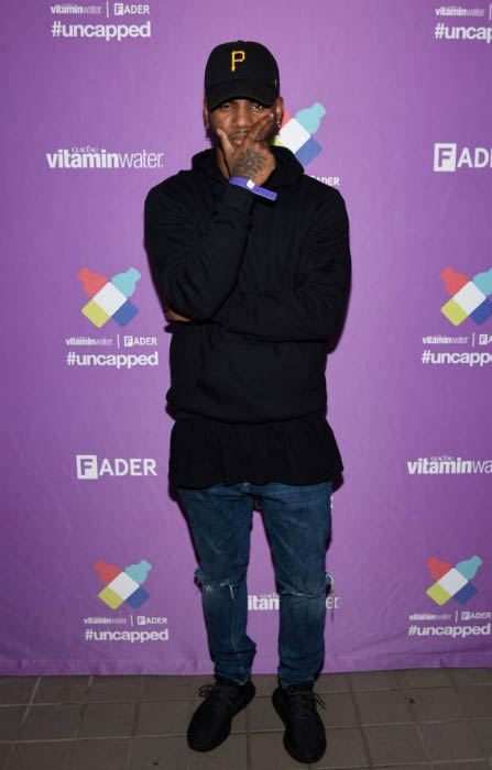 "Bryson Tiller at the Vitaminwater and the Fader Unite to ""Hydrate the Hustle"" event in October 2015"