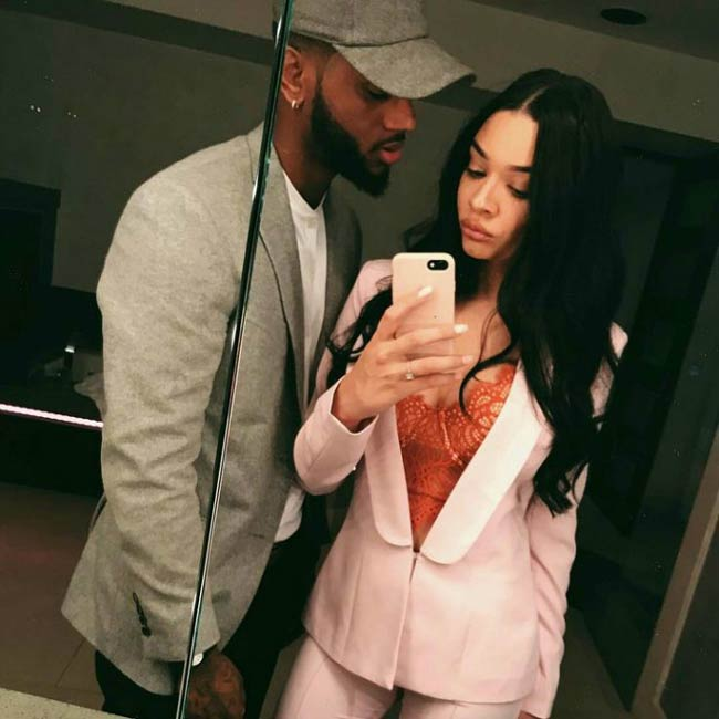 Bryson Tiller and Markea Bivens in a picture shared on social media in 2015