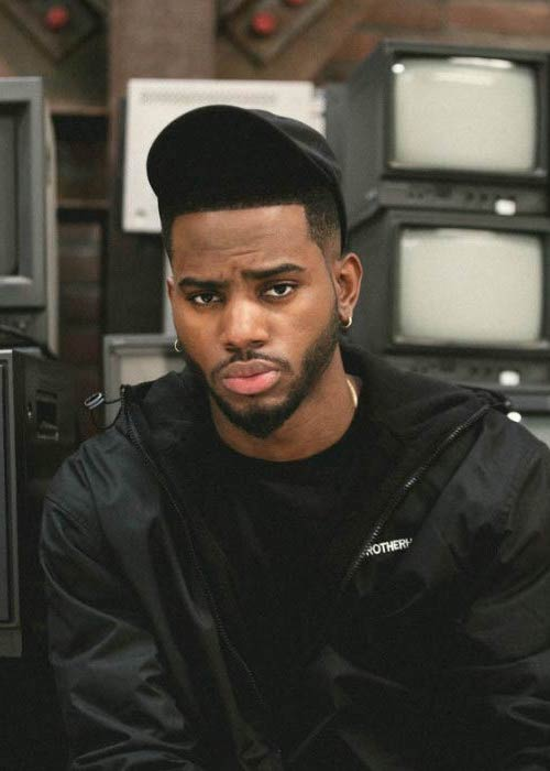 Bryson Tiller in a magazine modeling photoshoot in 2016